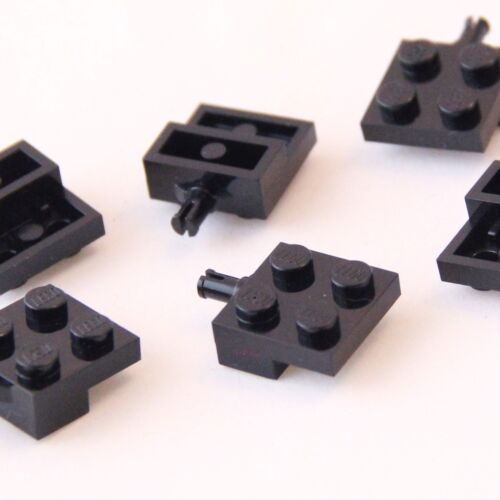 LEGO Plate 2x2 with Wheel Holder Genuine Lego Part 4488 Brand New BLACK 6 PIECES