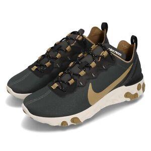 0ac955e4a13f5 Nike React Element 55 Outdoor Green Golden Beige Men Running Shoes ...