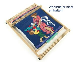 Schulwebrahmen-40-cm-Allgaeuer-Webrahmen-Holz-mit-Schiffchen-und-Kamm-1362-1407