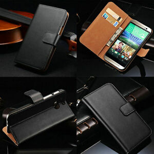 New-Wallet-Genuine-Leather-Whole-Black-Cover-Case-For-Sony-Xperia-HTC-Serious