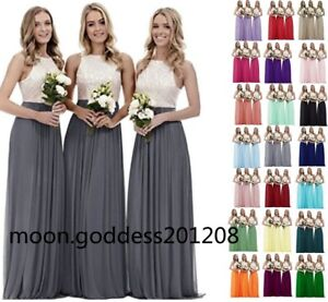 Long-Chiffon-Lace-Evening-Formal-Party-Ball-Gown-Prom-Bridesmaid-Dress-Size-6-18