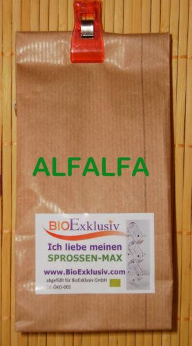 Sprossen Keimsaat ALFALFA Bio Premium Qualität à 200 g 2 Pkg