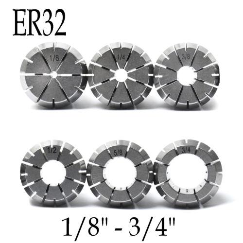 "3//4/"" Super Precision ER32 Collet Techniks 0.012 Accuracy CNC Chuck Mill 1//8/"""