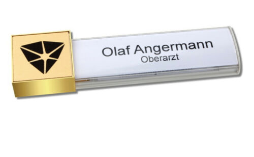 individuellem Logodruck Druck und Magnet 5 x Namensschild mit Magnet
