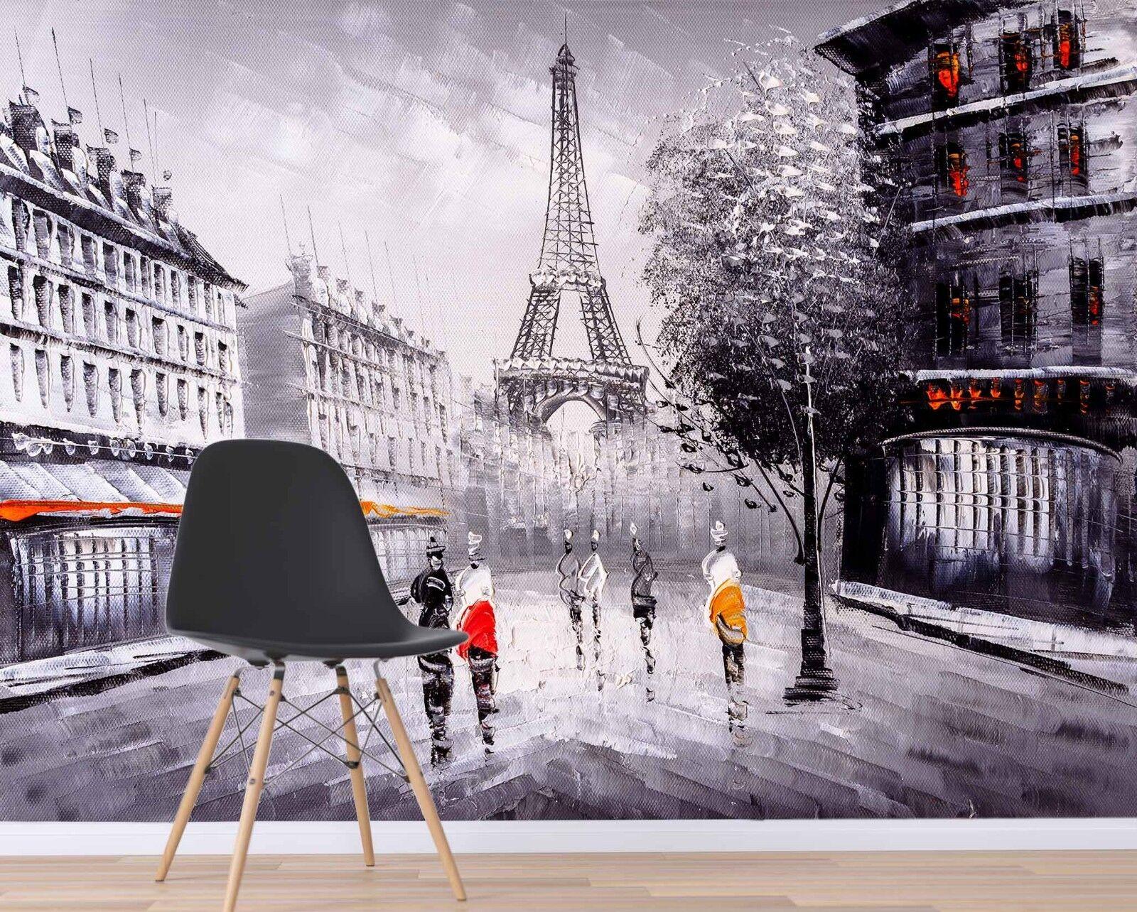 3D Eiffel Tower 7011 Wallpaper Mural Paper Wall Print Indoor Murals CA Summer
