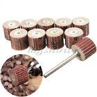 10pcs Flap Wheel Disc Shaft Abrasive Sanding Drill Polish For Dremel Rotary