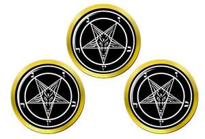 Satanique-Pentagramme-Marqueurs-de-Balles-de-Golf