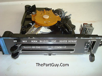 RBLT 80-81 TRANS-AM A//C Heater Control w//NEW LENS AC Air Conditioning Firebird