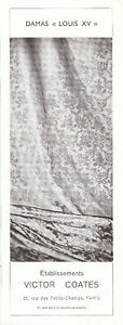 Publicite-ancienne-tissu-Damas-Louis-XV-1950-issue-de-magazine
