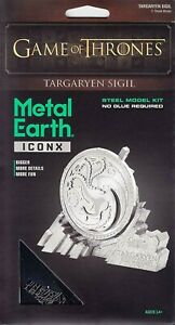 Game Of Thrones Targaryen Sigil Coleccionable Fascinations Metal Earth ICX120