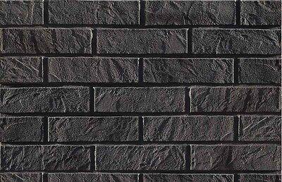5 m Brique feuillets Revêtement Mur Tuiles Flexibles Graphite-brique m2