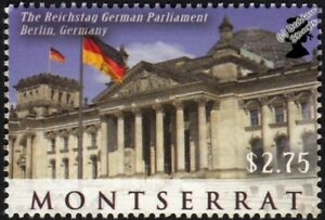 Beautiful Reichstag Parliament Building Berlin/sites Of The World Stamp Available In Various Designs And Specifications For Your Selection 2010 Montserrat