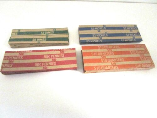 Mix Select Dollar Flat Coin Wrappers Penny Dime Nickel Quarter Half Dollar
