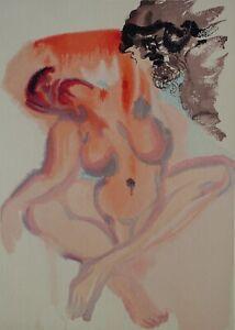 Dali Salvador: Fegefeuer 3 - Holz Graviert Original #1960-1963# Göttliche