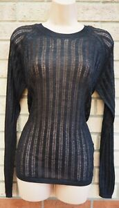 NEXT-BLACK-KNIT-KNITTED-LONG-SLEEVE-SEE-THROUGH-JUMPER-TOP-BLOUSE-TUNIC-8-S