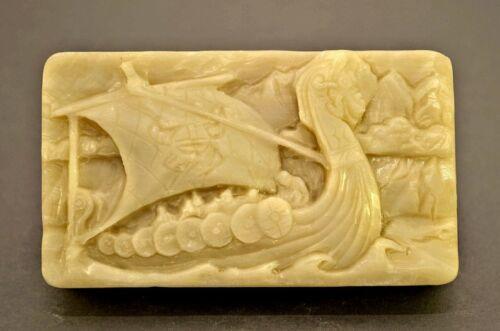 DRAKKAR Seife Silikonform mold silicone mould gips fimo harz WIKINGER BOOT