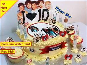 1D-One-Direction-Cup-Cake-Standup-Scene-Topper-Wafer-Edible-Birthday-Party
