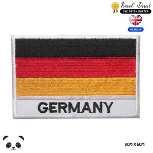 Germany-National-Flag-With-Name-Embroidered-Iron-On-Sew-On-Patch-Badge