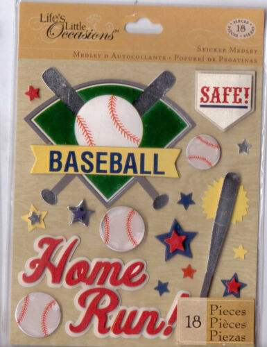 K /& Co Life/'s Little Occasions SPORTS Sticker Medley~Dimensional~ BNIP~Nice!