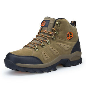 Men-039-s-waterproof-lightweight-leather-winter-outdoor-tactical-hiking-boots-shoes
