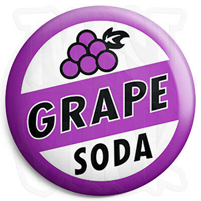 Grape Soda - Ellie's Up Bottle Top - 25mm Button Badge with Fridge Magnet Option