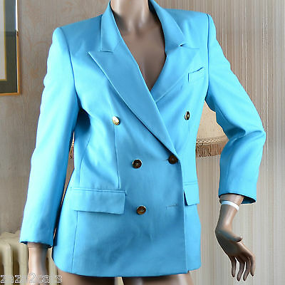 Veste Blazer Officier Taille 38 Bleu Turquoise Vintage Occasion Tres Bon Etat Materiali Accuratamente Selezionati