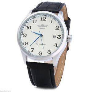 Montre-Automatique-Classique-Retro-Cuir-Date-homme-Men-Watch