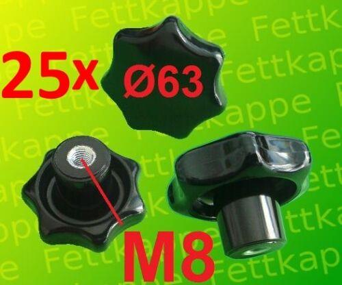 Sternmutter Feststellmutter Sterngriff Griff Ø 63mm 25 x Sterngriffmutter M8