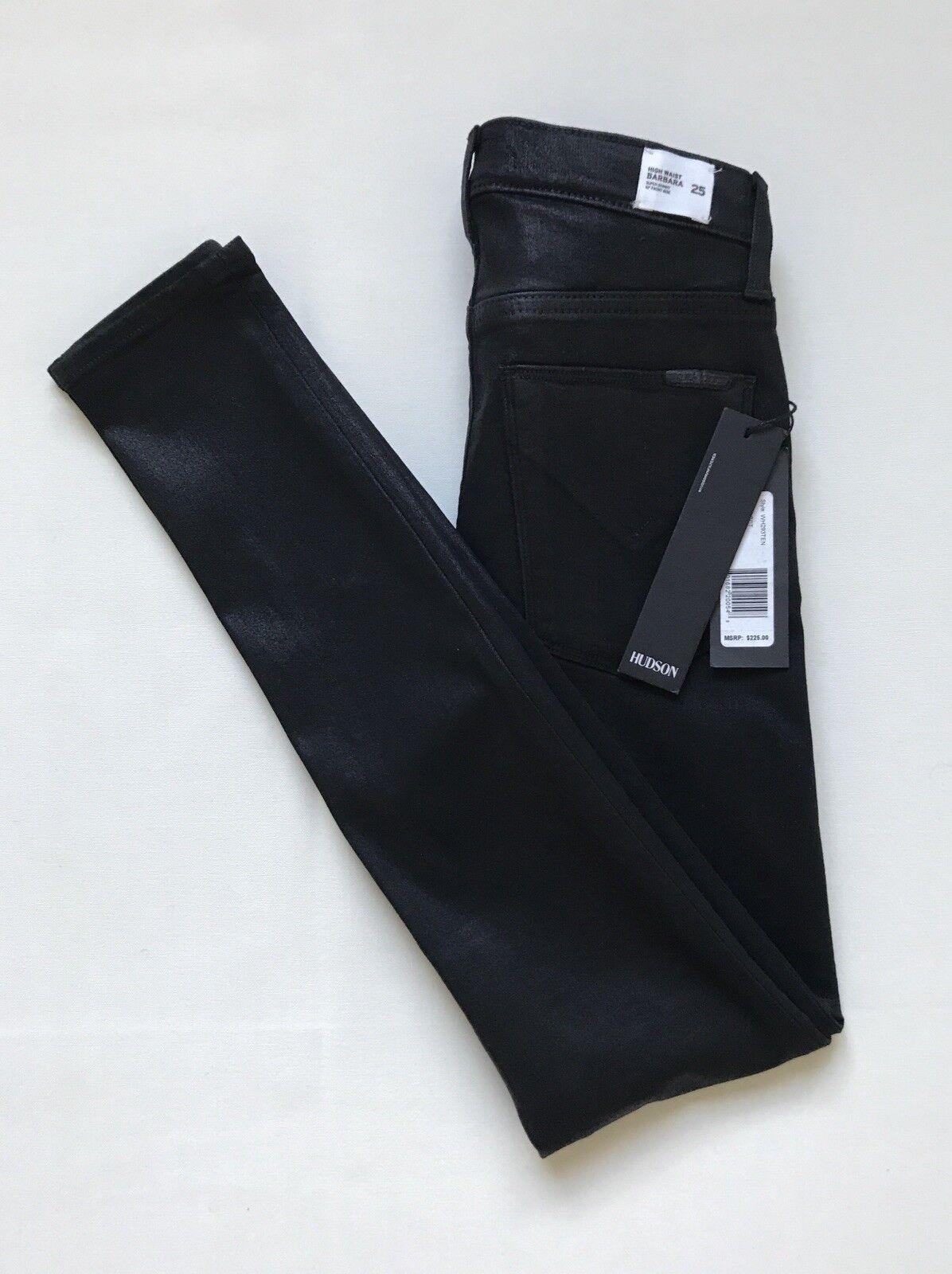 NWT Womens Juniors SIZE 25 Hudson BARBARA Super Skinny High Waist Stretch Jeans