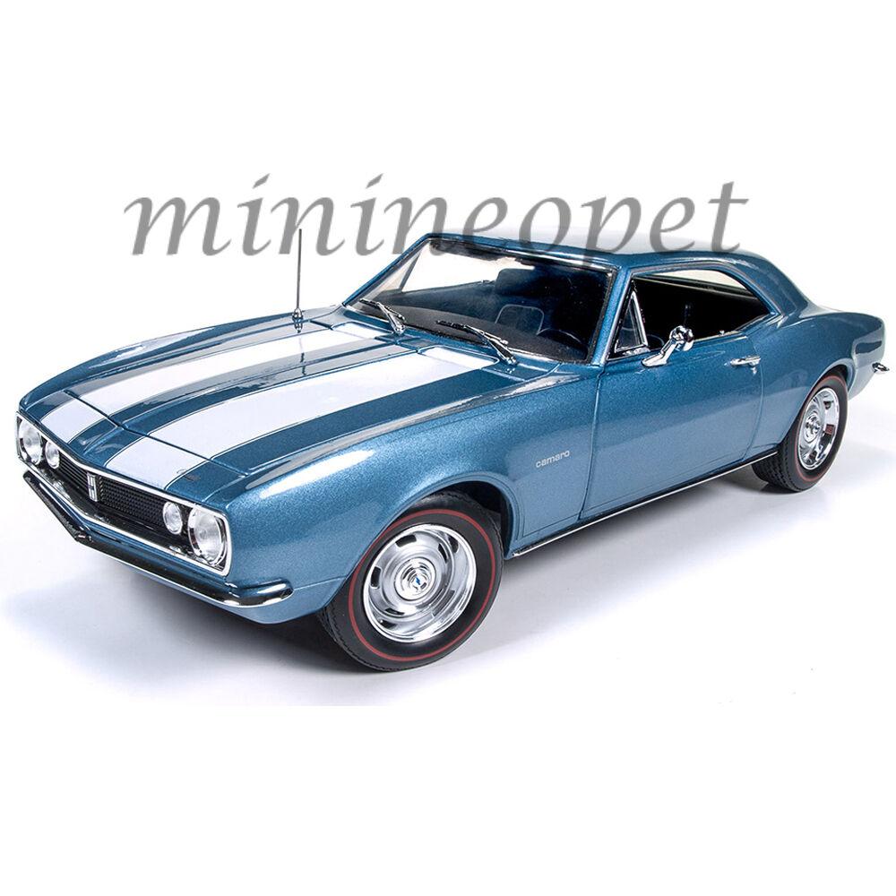 Autoworld AMM1101 1967 Chevrolet Camaro Z  28 50TH ANNIVERSAIRE 1 18 Moulé Sous Pression Bleu  gros pas cher