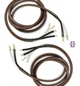 Analysis Plus Bi-Wire Chocolate Theater 4 Speaker Cable 4x16AWG Bi ...