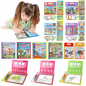 Wiederverwendbare-Malbuch-magischen-Wasser-Zeichnung-Buch-malen-Kinder-schreiben