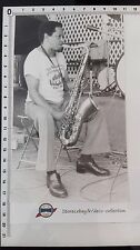 Photo ILLINOIS JACQUET et saxophone/Jazz /tirage original/presse/argentique