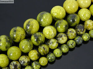 Natural-Yellow-Turquoise-Gemstone-Round-Beads-16-039-039-2mm-4mm-6mm-8mm-10mm-12mm