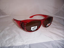 TAC POLARIZED FIT GLASSES OVER 63 MM glare block glasses RED