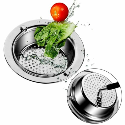 Hot Stainless Steel Kitchen Sink Strainer Waste Plug Drain Stopper Filter Basket