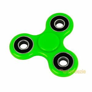 Led Metallic Silver Metal Hand Spinner Fidget Toy Anxiety Stress Relief.