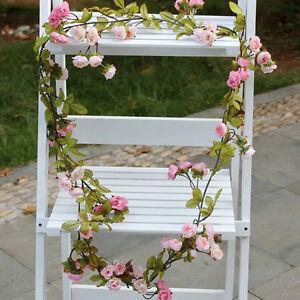 String-Fake-Rose-Flowers-Vine-Ivy-Leaf-Garland-Floral-Home-Wedding-DIY-Decor
