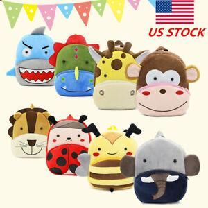 New Toddler Kid Children Boy Girl 3D Cartoon Animal Backpack School Bag Rucksack