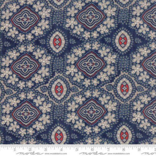 Moda PORTSMOUTH Navy 14861 16 Fabric By The Yard Minick /& Simpson