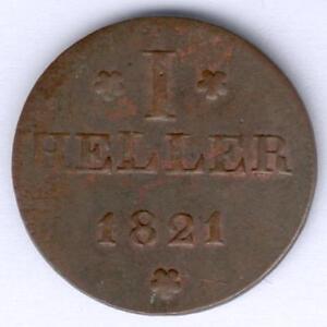 Frankfurt-I-Heller-1821-Cu-AKS-30-ss