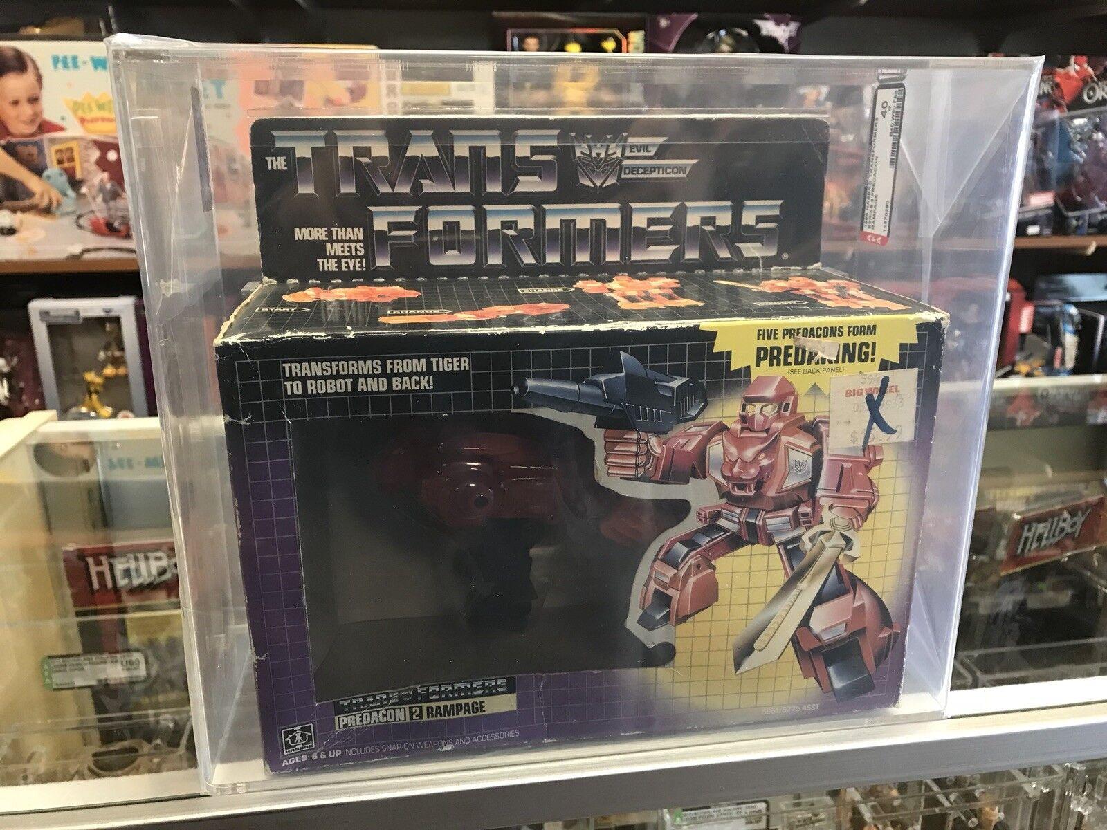 1986 Transformers Vintage Series 3 Predacon Rampage AFA 40