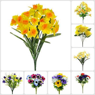 Outdoor fake flowers 50 cm Artificial Mini Daffodil Green Trough