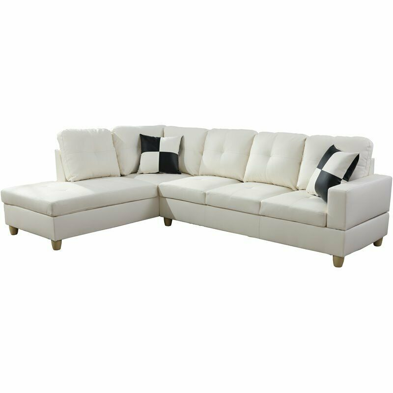 Lifestyle Furniture Smith Left-Facing Sectional Sofa Set in Off White