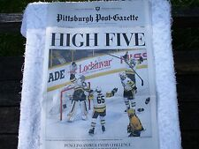 Stanley Cup Win Penguins Pittsburgh Post-Gazette ENTIRE  Newspaper June 12, 2017