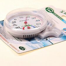 Round Large Dial Mini Indoor Wall Thermometer Temperature Meter Wet Hygrometer