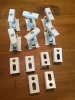 6 Clamps And 6 Wall Brackets For Column Radiators White Acova Type