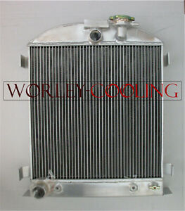 3-Core-Aluminum-Radiator-for-Ford-Chopped-Ford-Engine-low-boy-1932