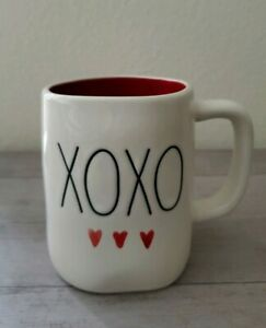NEW-RAE-DUNN-by-Magenta-Valentine-039-s-XOXO-Hugs-and-Kisses-Mug-Farmhouse-Decor