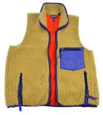 Vtg Patagonia Retro X Fleece Vest M L Womens Textured Pocket Oatmeal USA